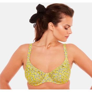 Vêtements Femme Maillots de bain séparables Brigitte Bardot Haut de maillot à armatures jaune Cigale Jaune