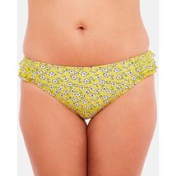 Vêtements Femme Maillots de bain séparables Brigitte Bardot Slip de bain jaune Cigale Jaune