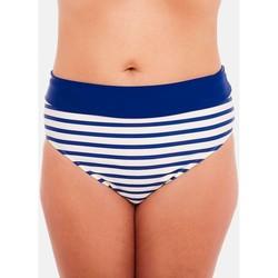 Vêtements Femme Maillots de bain séparables Brigitte Bardot Culotte haute bleu Marinière Bleu