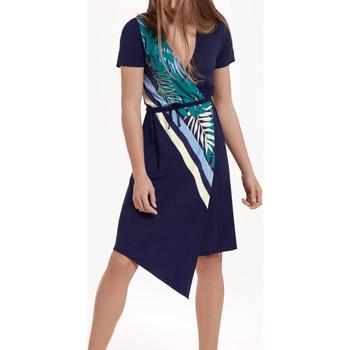 Vêtements Femme Robes Lisca Robe estivale aymétrique manches courtes Tahiti Bleu