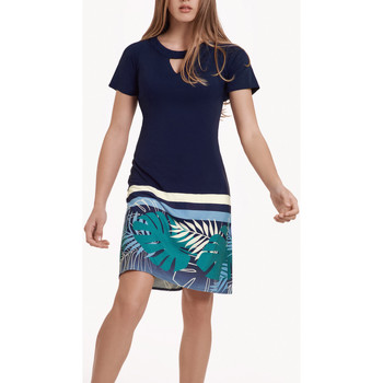 Vêtements Femme Robes Lisca Robe estivale manches courtes Tahiti Bleu