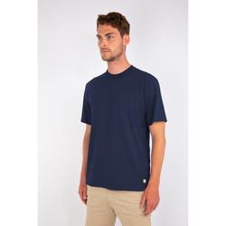 Vêtements Homme T-shirts manches courtes Armor Lux T-shirt uni Héritage - coton léger Bleu