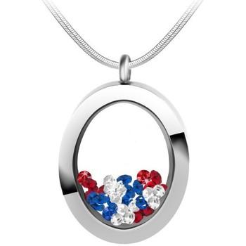 Montres & Bijoux Femme Colliers / Sautoirs Sc Crystal B1522-TRICOLOR Argenté