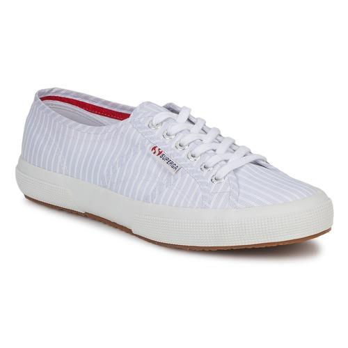 Baskets mode Superga 2750 COTUSHIRT Blanc / Bleu 350x350