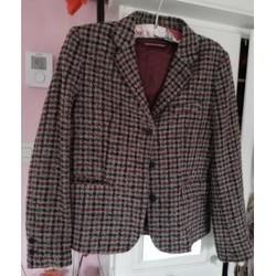 Vêtements Femme Vestes / Blazers Compagnie de Californie Veste d'hiver Comptoir des Cotonniers carreaux gris et bordeaux Multicolore