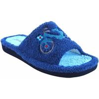 Chaussures Femme Chaussons Berevere maison lady  v 1006 bleu Gris