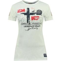 Vêtements Femme T-shirts manches courtes Geographical Norway Tshirt Femme Jarry Blanc