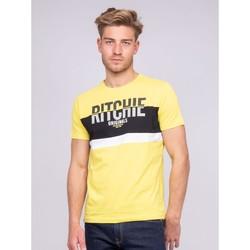 Vêtements T-shirts & Polos Ritchie T-shirt col rond pur coton NIMALO Jaune