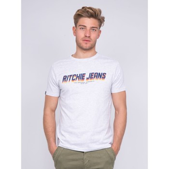 Vêtements T-shirts & Polos Ritchie T-shirt col rond pur coton NOHAN Gris
