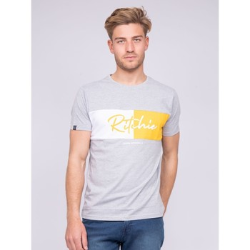 Vêtements T-shirts & Polos Ritchie T-shirt col rond pur coton NOWARE Gris