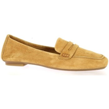 Chaussures Femme Mocassins Reqin's Mocassins cuir velours Camel