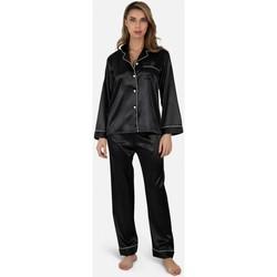 Vêtements Femme Pyjamas / Chemises de nuit Kebello Ensemble Pyjama fluide en satin Taille : F Noir S Noir