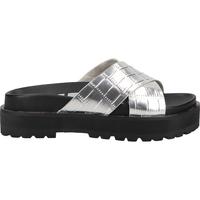 Chaussures Femme Sabots Buffalo Pantoletten Argenté