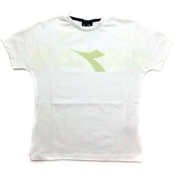 Vêtements Garçon T-shirts manches courtes Diadora - T-shirt bianco 027313-002 BIANCO