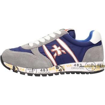 Chaussures Garçon Baskets basses Premiata - Sneaker grigio/blu 12-38003 GRIGIO-BLU