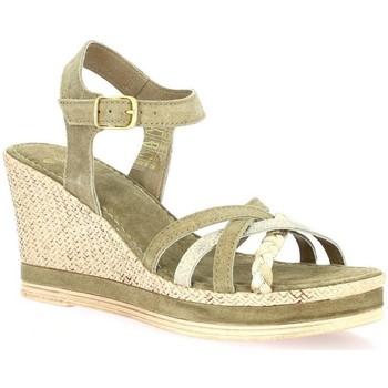 Chaussures Femme Sandales et Nu-pieds Exit Nu pieds cuir velours Taupe
