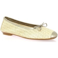 Chaussures Femme Ballerines / babies Reqin's Ballerines toile laminé  champagne Champagne