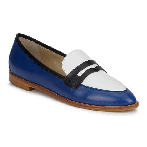 etro mocassin 3767 bleu noir blanc livraison gratuite avec chaussures. Black Bedroom Furniture Sets. Home Design Ideas