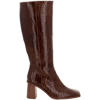 Chaussures Femme Bottes ville Alohas East Croco Brown