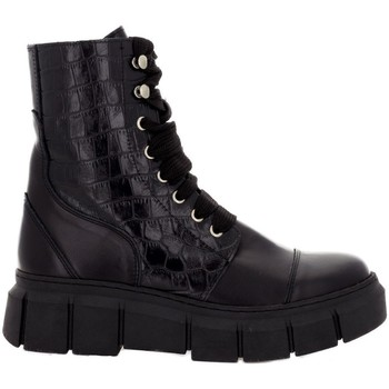 Chaussures Femme Boots Alohas Can Can  Croco Black