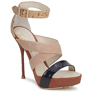 Chaussures Femme Sandales et Nu-pieds John Galliano AN6363 Rose / Marine / Beige