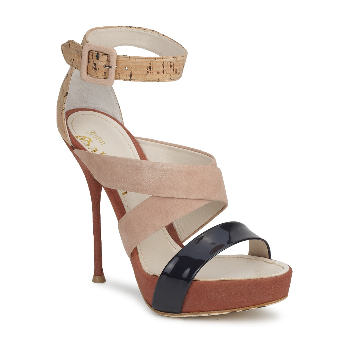 Sandale John Galliano AN6363 Rose / Marine / Beige