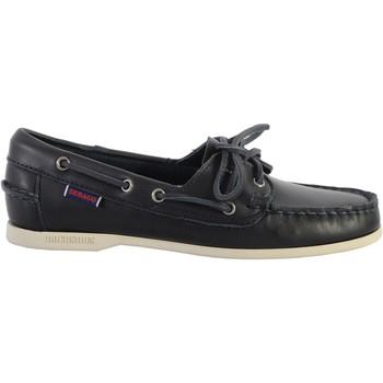Chaussures Femme Chaussures bateau Sebago Docksides Cuir Sebago Jacqueline Bleu Marine
