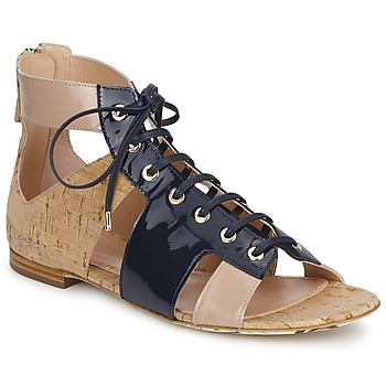 Chaussures Femme Sandales et Nu-pieds John Galliano AN6379 Bleu /Beige / Rose