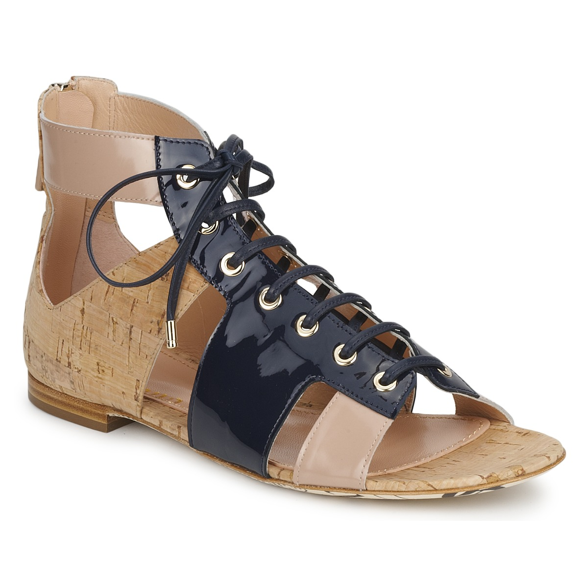 Sandale John Galliano AN6379 Bleu /Beige / Rose