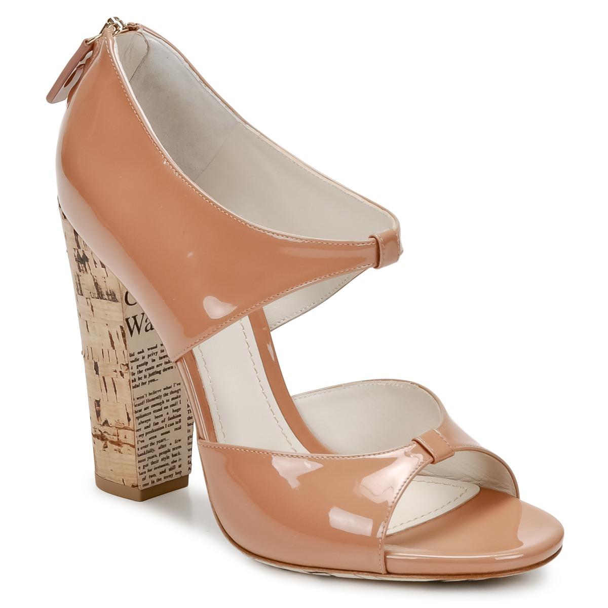 Sandale John Galliano AN6364 Rose / Beige