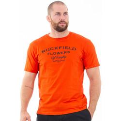 Vêtements Homme T-shirts manches courtes Ruckfield T-shirt orange rugby flowers Orange
