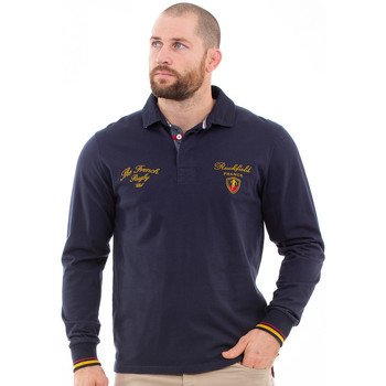 Vêtements Homme Polos manches longues Ruckfield Polo homme French Rugby Club Bleu