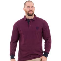 Vêtements Homme Polos manches longues Ruckfield Polo bordeaux élégance Rouge