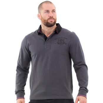 Vêtements Homme Polos manches longues Ruckfield Polo gris foncé  homme maison de rugby Gris
