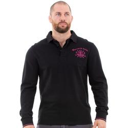 Vêtements Homme Polos manches longues Ruckfield Polo noir maison de rugby Noir