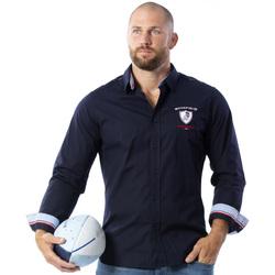 Vêtements Homme Chemises manches longues Ruckfield Chemise à manches longues France Bleu