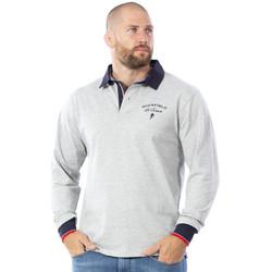 Vêtements Homme Polos manches longues Ruckfield Polo manches longues gris Gris