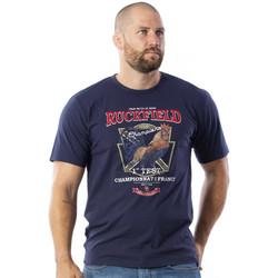 Vêtements Homme T-shirts manches courtes Ruckfield T-shirt à manches courtes bleu Bleu