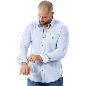 Vêtements Homme Chemises manches longues Ruckfield Chemise bleu clair rugby Bleu
