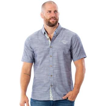 Vêtements Homme Chemises manches courtes Ruckfield Chemise bleu moyen flowers Bleu