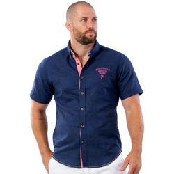Vêtements Homme Chemises manches courtes Ruckfield Chemise beach rugby bleu Bleu