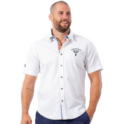Vêtements Homme Chemises manches courtes Ruckfield Chemise blanche beach rugby Blanc
