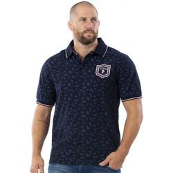 Vêtements Homme Polos manches courtes Ruckfield Polo en coton piqué imprimé Bleu
