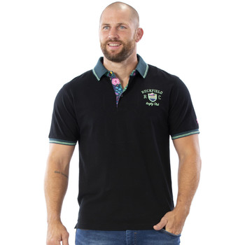 Vêtements Homme Polos manches courtes Ruckfield Polo rugby noir Noir