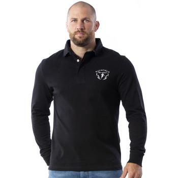 Vêtements Homme Polos manches longues Ruckfield Polo maori rugby noir Noir