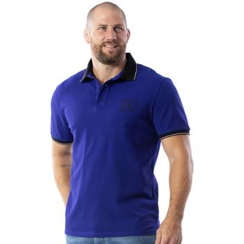 Vêtements Homme Polos manches courtes Ruckfield Polo Maori Rugby à manches courtes Bleu
