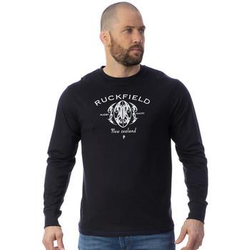 Vêtements Homme T-shirts manches longues Ruckfield T-shirt manches longues Maori Rugby Noir