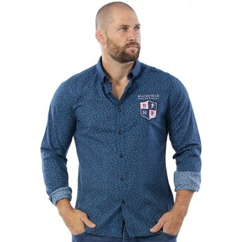 Vêtements Homme Chemises manches longues Ruckfield Chemise rugby bleue Bleu