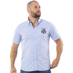 Vêtements Homme Chemises manches courtes Ruckfield Chemise we are rugby bleu Bleu
