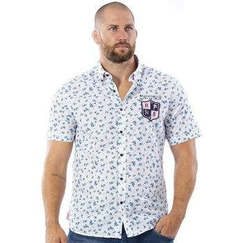 Vêtements Homme Chemises manches courtes Ruckfield Chemise blanche fleurie we are rugby Noir
